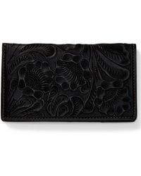 RRL - Tooled Leather Passport Cover - Lyst