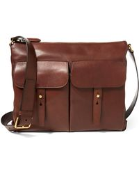 Ralph Lauren - Calfskin Pocket Messenger Bag - Lyst