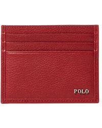 Polo Ralph Lauren - Metal-plaque Leather Card Case - Lyst
