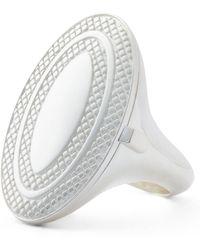 Ralph Lauren - Engine-turned Locket Ring - Lyst
