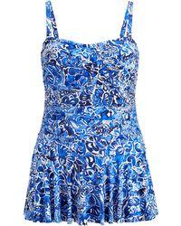 Ralph Lauren - Slimming Floral One-piece Suit - Lyst