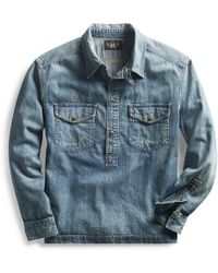 12b081ace1 Rrl Lot 271 Corduroy Jacket in Blue for Men - Lyst