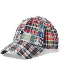 Polo Ralph Lauren - Patchwork Madras Baseball Cap - Lyst