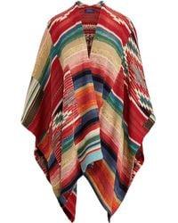 Polo Ralph Lauren - Linen-blend Open-front Poncho - Lyst