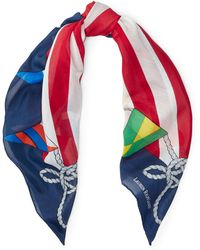 Ralph Lauren - Nautical Cotton-blend Scarf - Lyst