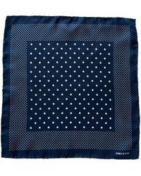 RRL - Dot-print Silk Pocket Square - Lyst