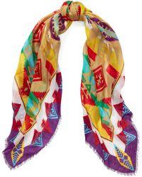 Polo Ralph Lauren - Geometric Wool-blend Scarf - Lyst