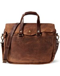 RRL - Pebbled Leather Briefcase - Lyst