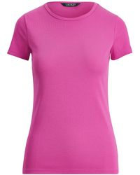 Ralph Lauren - Cotton Crewneck T-shirt - Lyst