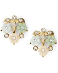 Ralph Lauren - Crystal Flower Stud Earrings - Lyst