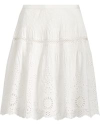 Polo Ralph Lauren - Lace-embroidered Skirt - Lyst