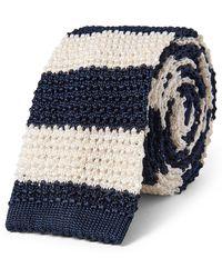 Polo Ralph Lauren - Striped Knit Silk Narrow Tie - Lyst