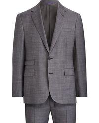 Ralph Lauren Purple Label - Gregory Wool Sharkskin Suit - Lyst
