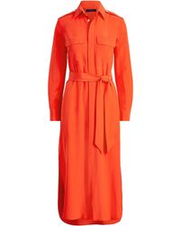 Polo Ralph Lauren - Belted Silk Shirtdress - Lyst