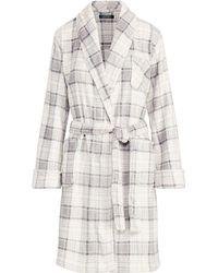 Ralph Lauren - Plaid Fleece Robe - Lyst