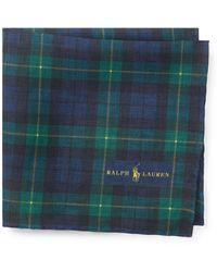 Polo Ralph Lauren   Tartan Linen Pocket Square   Lyst