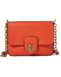 Ralph Lauren - Pebbled Leather Crossbody Bag - Lyst