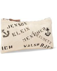 RRL - Stenciled Cotton Canvas Pouch - Lyst