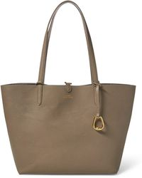 95125b6e32e Lyst - Ralph Lauren Lexington Tote in Natural