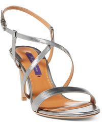 Ralph Lauren - Arissa Metallic Leather Sandal - Lyst
