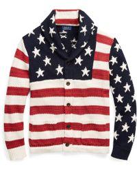 Polo Ralph Lauren - American Flag Shawl Cardigan (flag Multi) Men's Jumper - Lyst