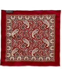 RRL - Paisley Cotton Pocket Square - Lyst