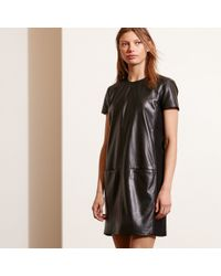 Pink Pony - Leather Short-sleeve Dress - Lyst