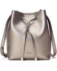 Ralph Lauren - Leather Debby Drawstring Bag - Lyst