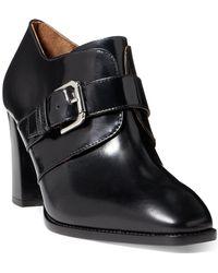 Ralph Lauren - Faeleen Leather Bootie - Lyst