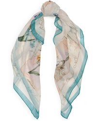 Ralph Lauren | Botanical Silk Chiffon Scarf | Lyst