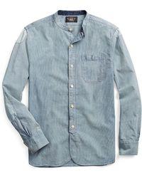 0db6d519 RRL Slim Club-collar Cotton Shirt in Natural for Men - Lyst