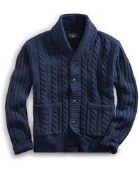 RRL - Cable-rib Wool Cardigan - Lyst