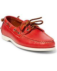 Pink Pony - Telford Leather Boat Shoe - Lyst