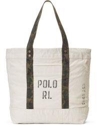 Lyst - Polo Ralph Lauren Dragon-embroidered Canvas Tote in Blue 2ab45f07aced3