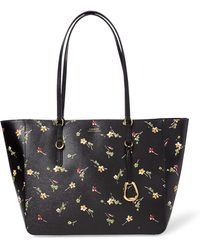 Ralph Lauren - Floral Leather Tote - Lyst