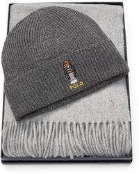 e4edd49330e1e Polo Ralph Lauren Men s Ski Bear Wool   Cashmere Beanie - Grey in ...