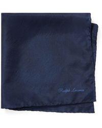 Ralph Lauren Purple Label - Silk Habotai Pocket Square - Lyst