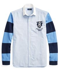 fed18a61884 Polo Ralph Lauren Classic Fit Patchwork Rugby Shirt in White for Men ...