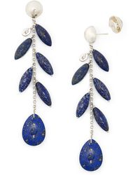Ralph Lauren - Lapis Drop Earrings - Lyst