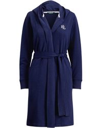 Ralph Lauren - French Terry Hooded Robe - Lyst