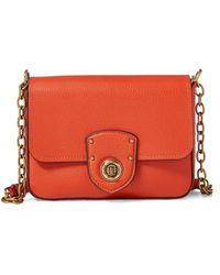 Ralph Lauren - Pebbled Leather Crossbody Bag - Lyst