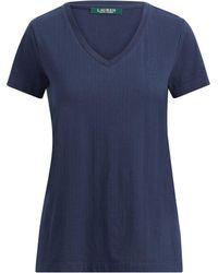 Ralph Lauren - Jacquard V-neck Sleep T-shirt - Lyst