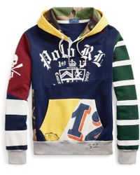 Polo Ralph Lauren - Patchwork Rugby Hoodie - Lyst