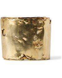 Ralph Lauren - Distressed Brass Cuff - Lyst