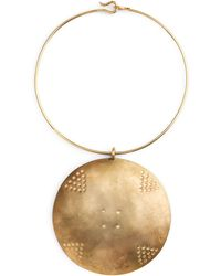 Ralph Lauren - Gold-plated Disk Necklace - Lyst