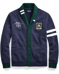 Polo Ralph Lauren - Fleece Letterman Cardigan - Lyst