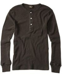 RRL - Long-sleeved Waffle Henley - Lyst