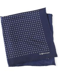 Ralph Lauren Purple Label - Polka-dot Silk Pocket Square - Lyst