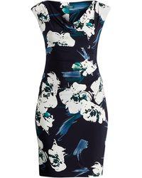 Ralph Lauren - Floral Ruched Jersey Dress - Lyst