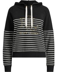 Ralph Lauren - Lrl Striped Terry Hoodie - Lyst